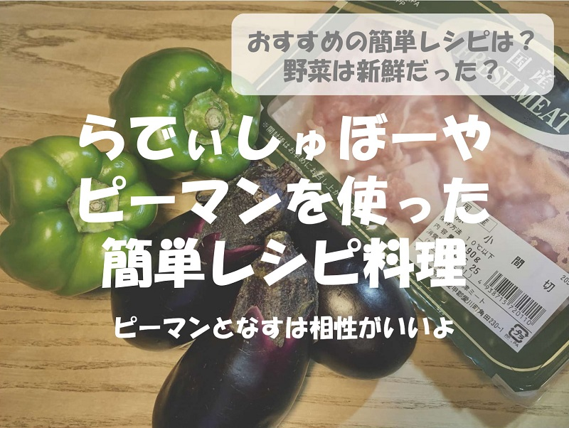 らでぃっしゅぼーや野菜お試しセットのピーマンを使った簡単レシピ
