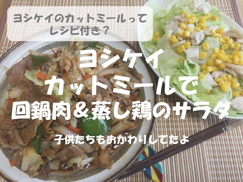 【レシピ付き】ヨシケイの回鍋肉&蒸し鶏のサラダ感想レビュー