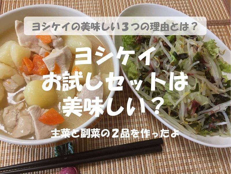 ヨシケイは美味しい?お試しセットの「鶏じゃが」を作ってみた
